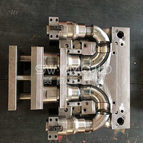 Molde de conexión de tubería de codo igual