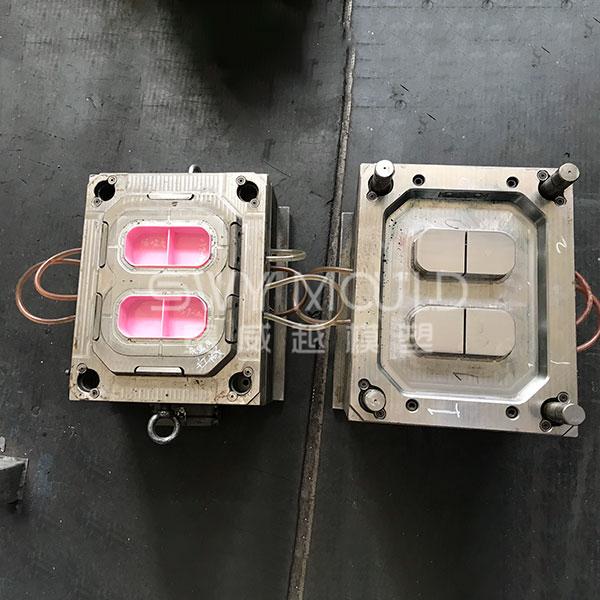 Molde de inyección de vajilla en capas