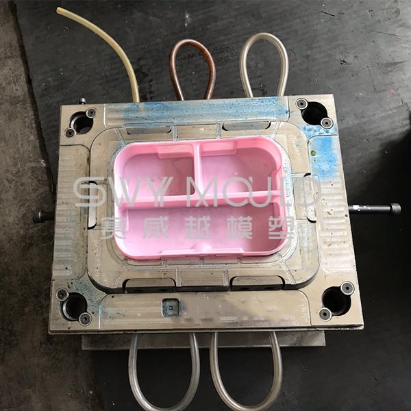 Moldeo por inyección de fiambrera de plástico