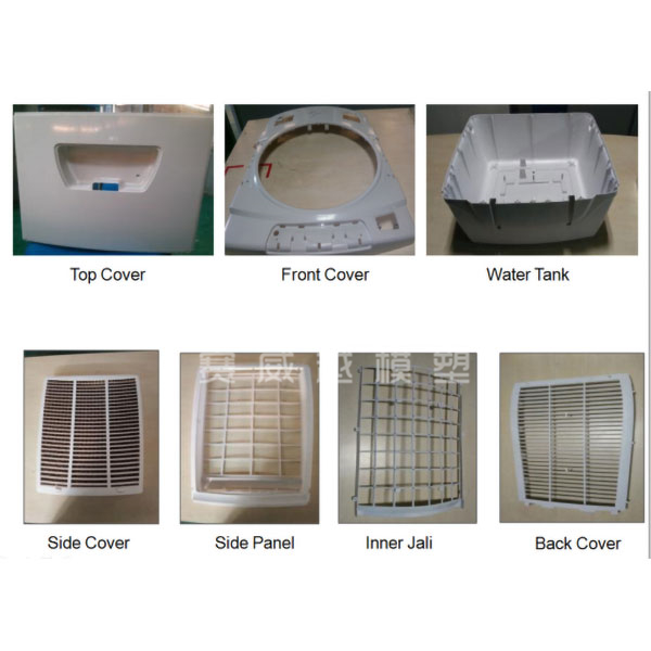 Molde de pieza de enfriador de aire de plástico