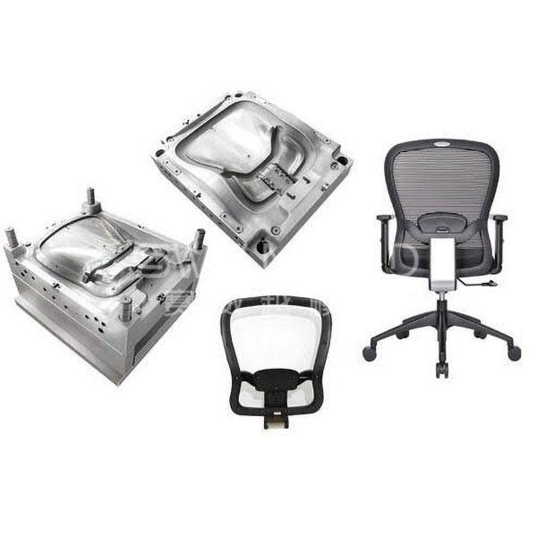 Moldura de respaldo de silla de plástico para silla de oficina