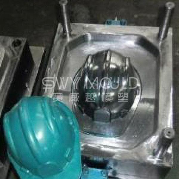 Molde plástico para casco de seguridad industrial