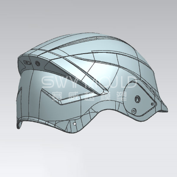 Molde de plástico para casco de motocicleta