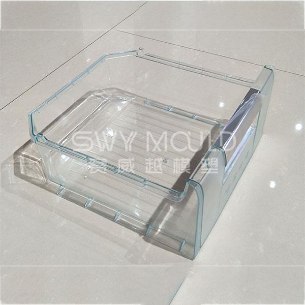 Molde de inyección de plástico para cajón de refrigerador