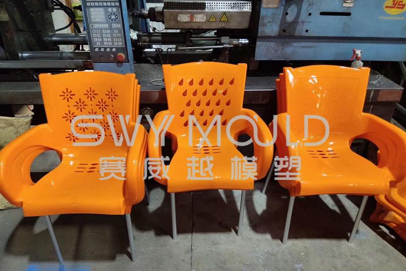 Modelado de materiales de molde de inyección de silla de plástico